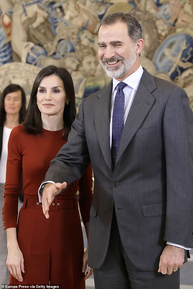 In 2014, King Juan swiftly abdicated in favour of his son Felipe, but Corinna believes she was still being targeted by the Spanish royals. Pictured,King Felipe of Spain with wife QueenLetizia