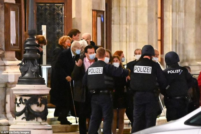 """Vienna police said in a Twitter post there had been """"six different shooting locations"""" with """"one deceased person"""" and """"several injured"""", as well as """"one suspect shot and killed by police officers"""""""