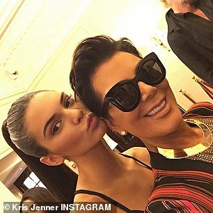 Dynamic duo: Kris also shared more recent selfies of the two of them together