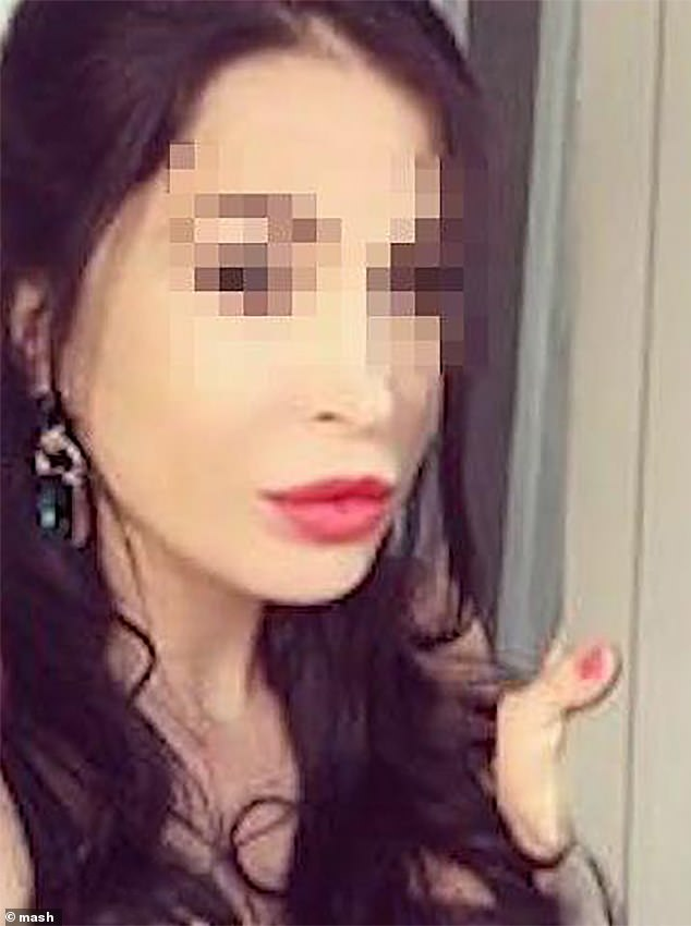 His girlfriend Sabina Gaziyeva, 36,escaped through a window and called police from a neighbouring house