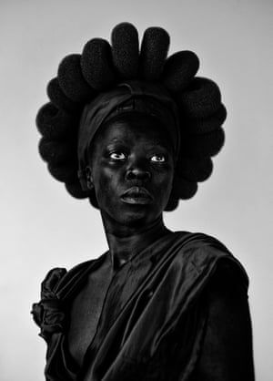 Ntozakhe II, Parktown 2016 – one of Muholi's self-portraits in their Hail the Dark Lioness series.