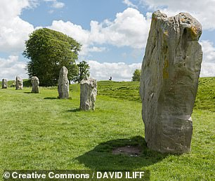 Mount Pleasant is one of five known mega henges in southern England from this time — the others being Avebury (pictured), Durrington Walls, Knowlton and Marden