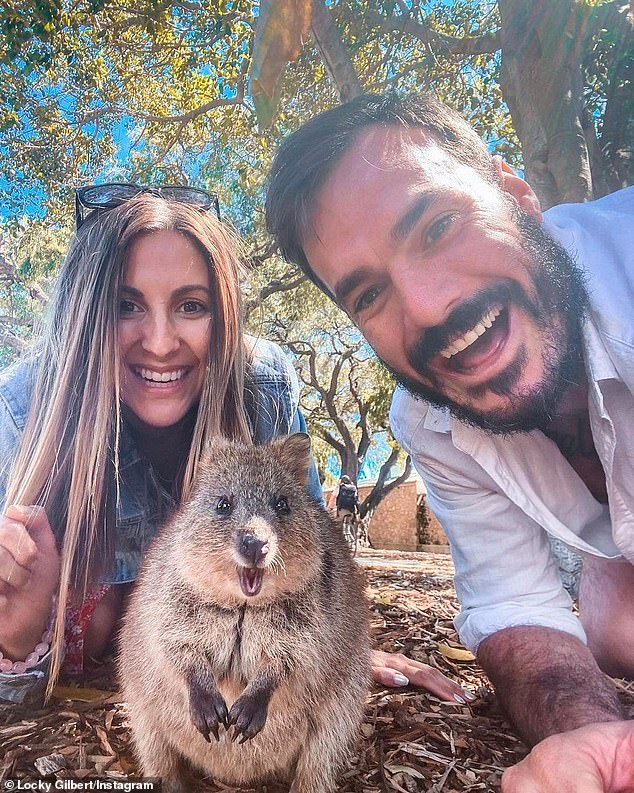 What happened? Irena's no-show was especially surprising given that she and Locky, 31, had just returned from a romantic holiday to Rottnest Island (pictured with a quokka)
