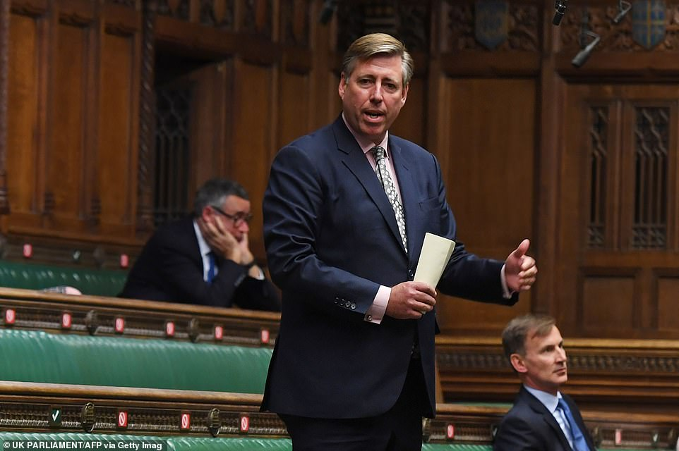 Sir Graham Brady, chairman of the powerful 1922 committee, led the Tory backlash warning that the government curbs on civil liberties were 'evil'