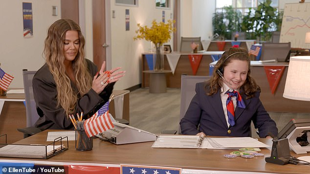 She told fans to get their vote in early:Khloe did a voting plug for Ellen DeGeneres