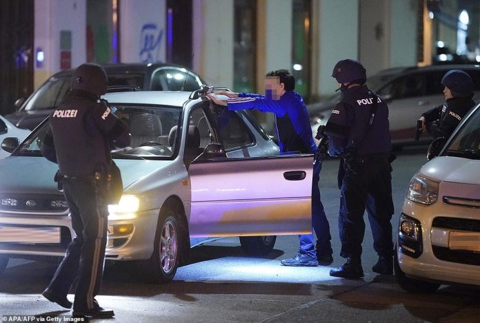 """Vienna police said in a Twitter post there had been """"six different shooting locations"""" with """"one deceased person"""" and """"several injured"""""""