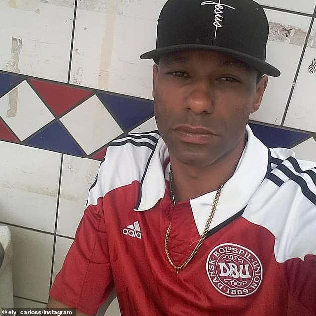 Authorities in Brazil still have not determined howEly Carlos dos Santos (pictured) and his pregnant friend,Ellen Priscila Ferreira, were forced into a vehicle before their bodies were charred on October 17