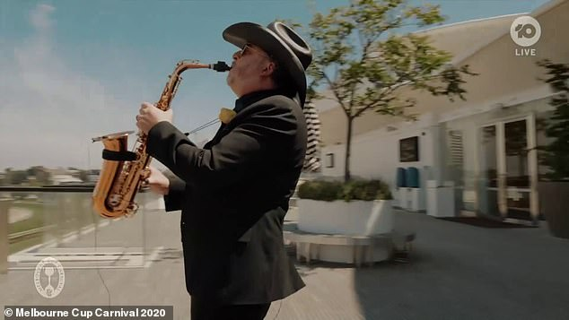 Iconic: There was a saxophonist at the venue to perform the iconic solo in Never Tear Us Apart