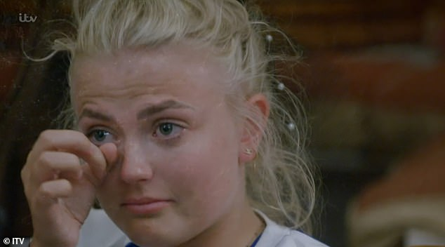Scary: Friday's episode is set to be the most dramatic yet as both teams go head-to-head in the final leg of the race, pushing stars, including Lucy Fallon, to their limit