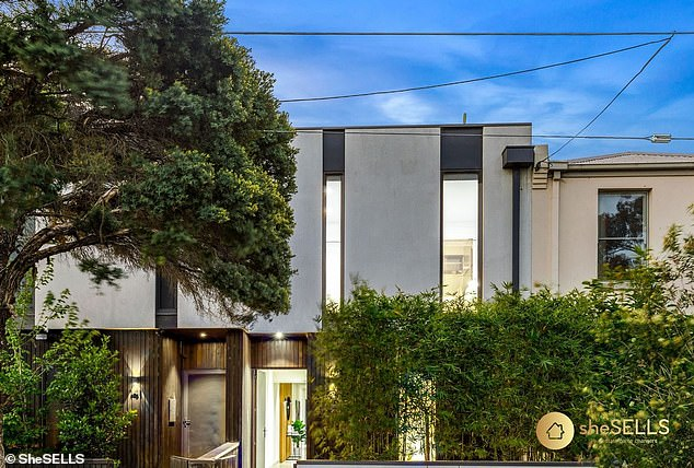 Live like a celebrity:The Melbourne home boasts four bedrooms across three separate levels