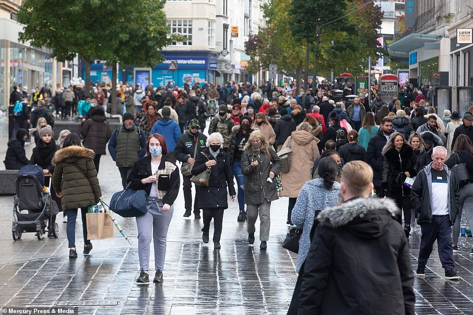 Liverpool city centre was a hive of activity as England heads into another gloomy lockdown