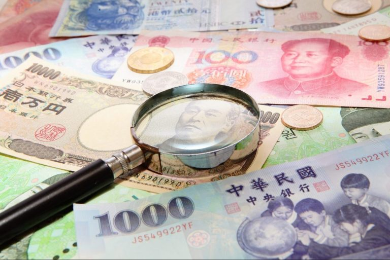 Comparing Asian currencies to the US dollar