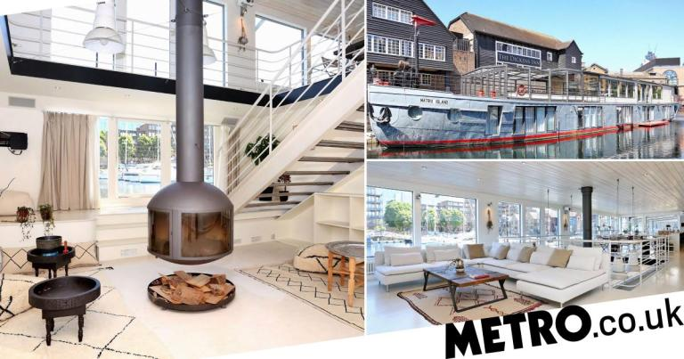Five bedroom luxury houseboat with sauna and jet ski platform on the market for £3.5m