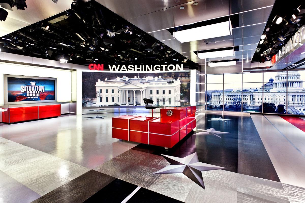 CNN Washington DC Broadcast Set Design Gallery