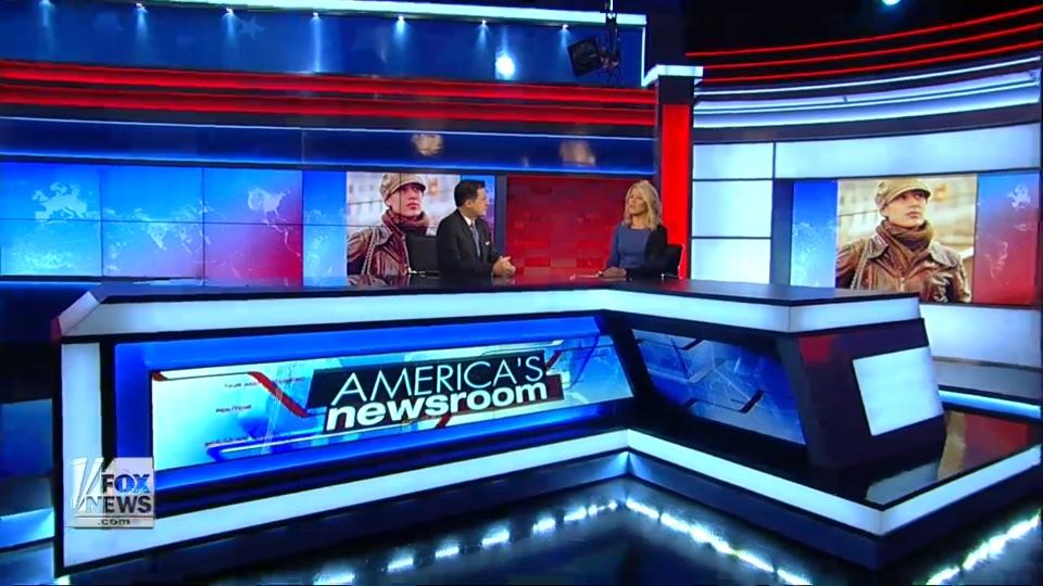 Fox News Studio J Pre2018 Broadcast Set Design Gallery