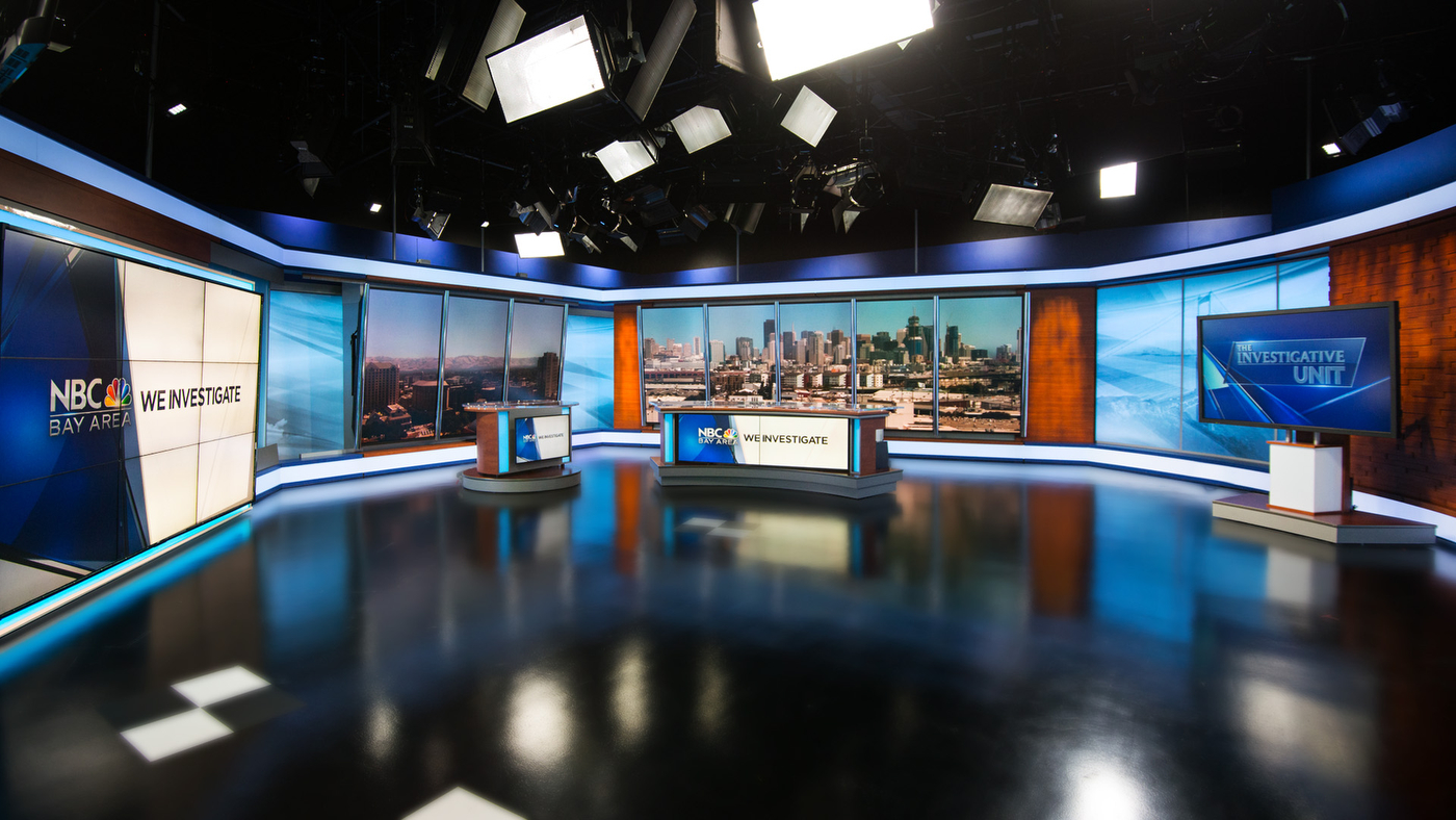 NBC Bay Area KNTVTV set design gallery
