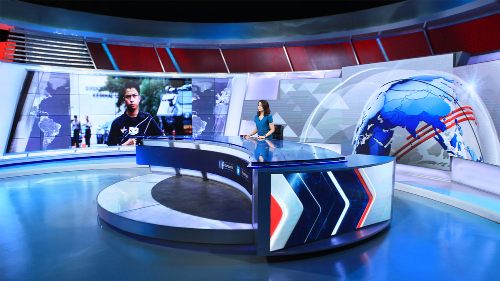 Kompas TV Broadcast Set Design Gallery