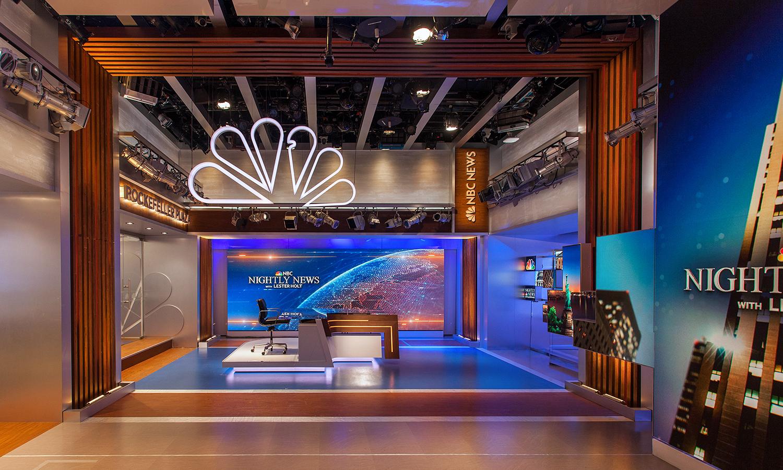 NBC Nightly News  Studio 3C studio design gallery