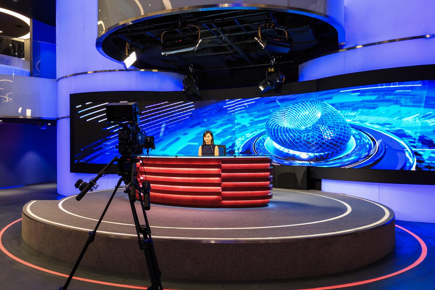 Phoenix International Media Center Broadcast Set Design