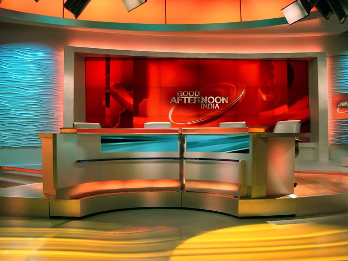 CNN IBN Broadcast Set Design Gallery