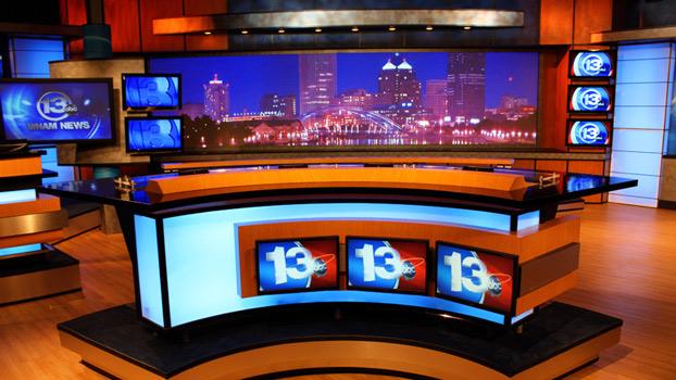 WHAMTV Broadcast Set Design Gallery