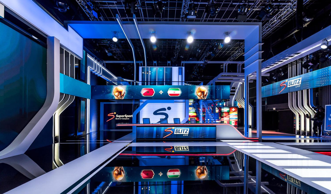 SuperSport Studio 6 Broadcast Set Design Gallery