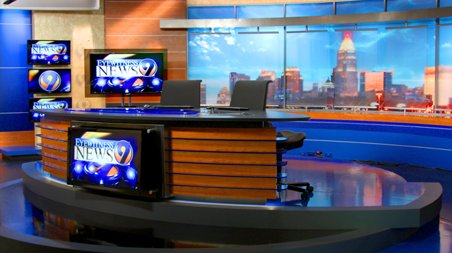 WSOCTV Broadcast Set Design Gallery