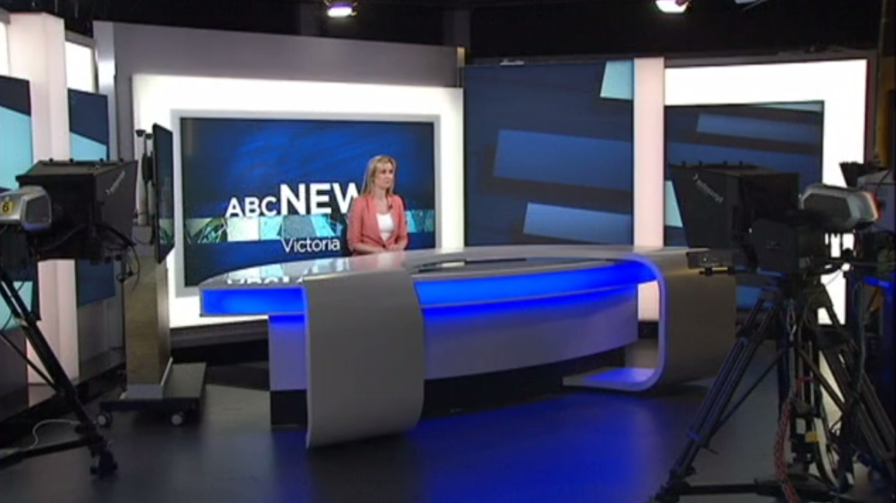 ABC News Victoria Broadcast Set Design Gallery