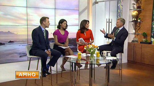 AMHQ with Sam Champion debuts on Weather Channel