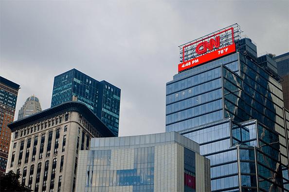 cnn sign atop nyc