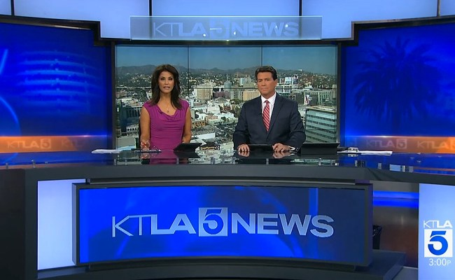 Los Angeles Ktla Tv Moves Into Stage 6 With New Set