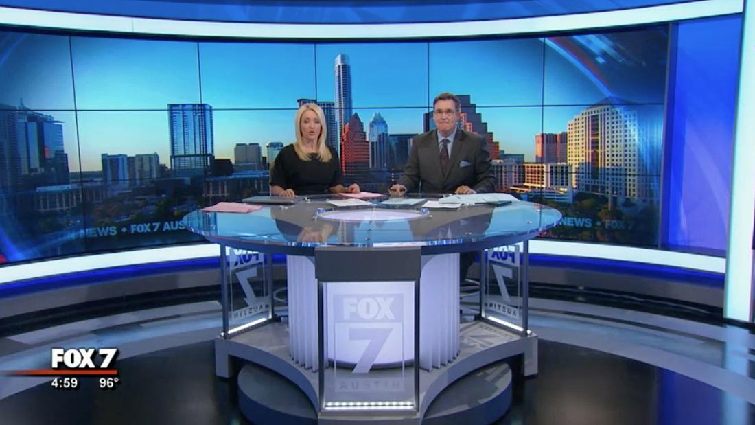 Fox Austins new sets unique anchor desk is core of