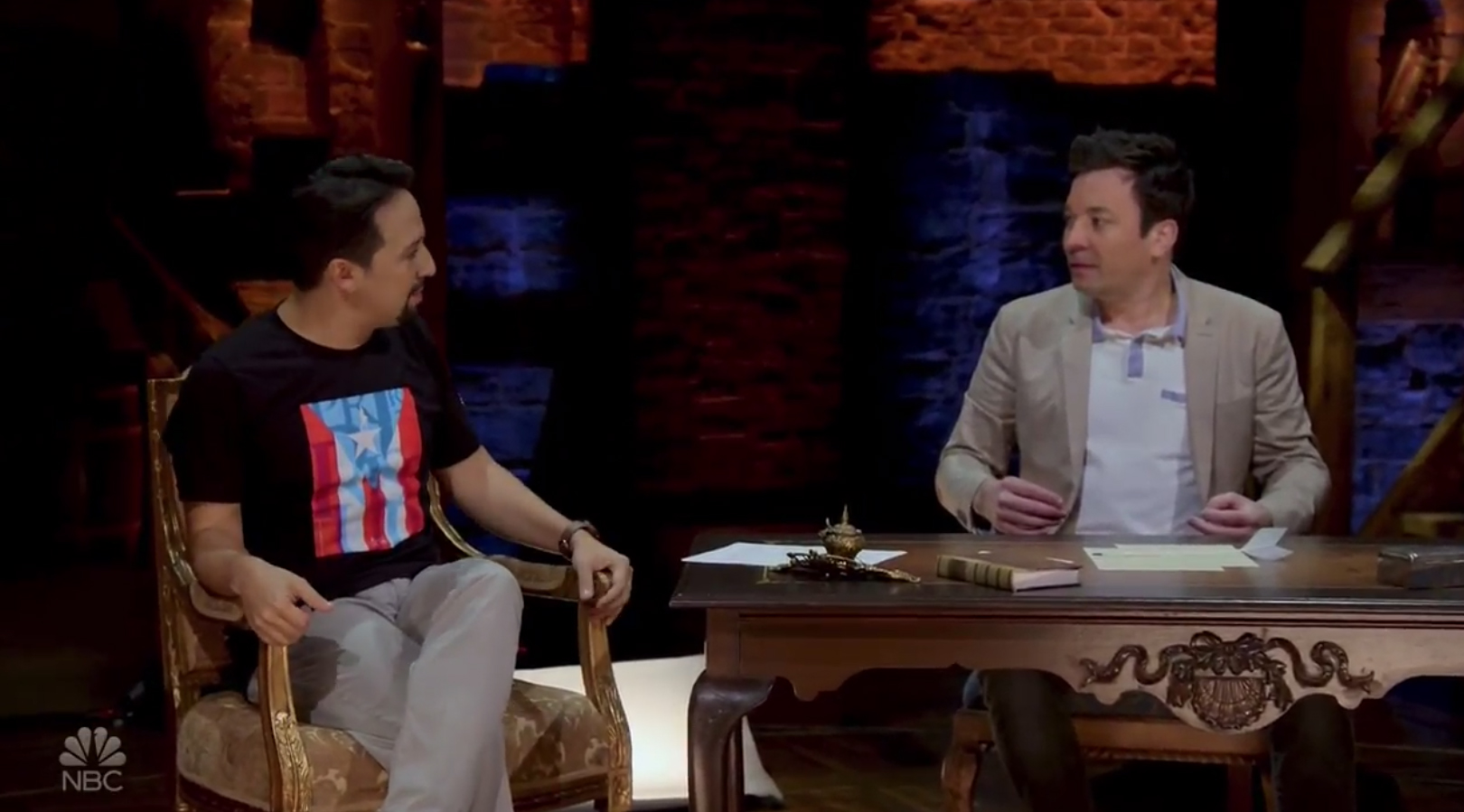 behind the chair show 2019 best company recliner 39the story of 39tonight 39  jimmy fallon joins lin manuel