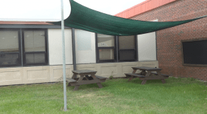 Douglas High School, outdoor learning space