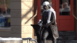 Downtown Statues, Winter Apparel