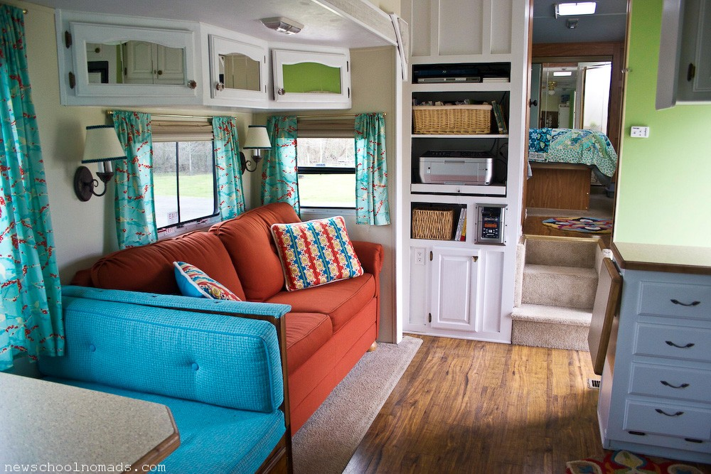 RV Redecorated Living Room 2  Newschool Nomads
