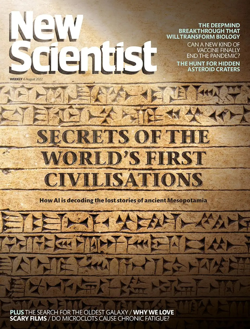 Cover of 16 October 2010 issue of New Scientist magazine