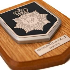 Metropolitan Police Helmet Emblem Plaque