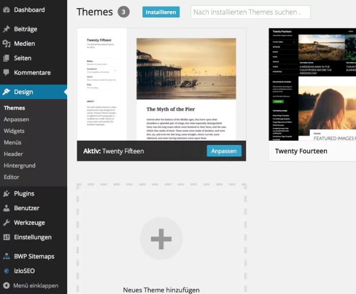 WordPress hat eine breite Auswahl an Themes, hier ist für jeden was dabei