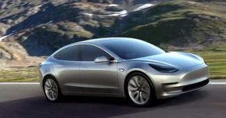 Tesla Model 3 Pressefoto