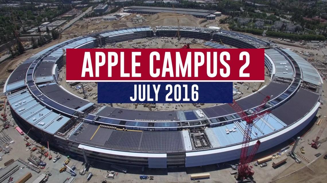 Apple Campus 2 Spaceship: Baufortschritt im Juli 2016