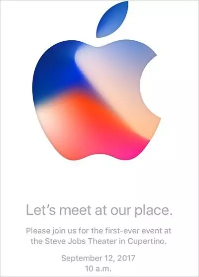 """iPhone-Event Einladung """"Let's meet our place."""" - Apple Keynote im Steve Jobs Theater"""