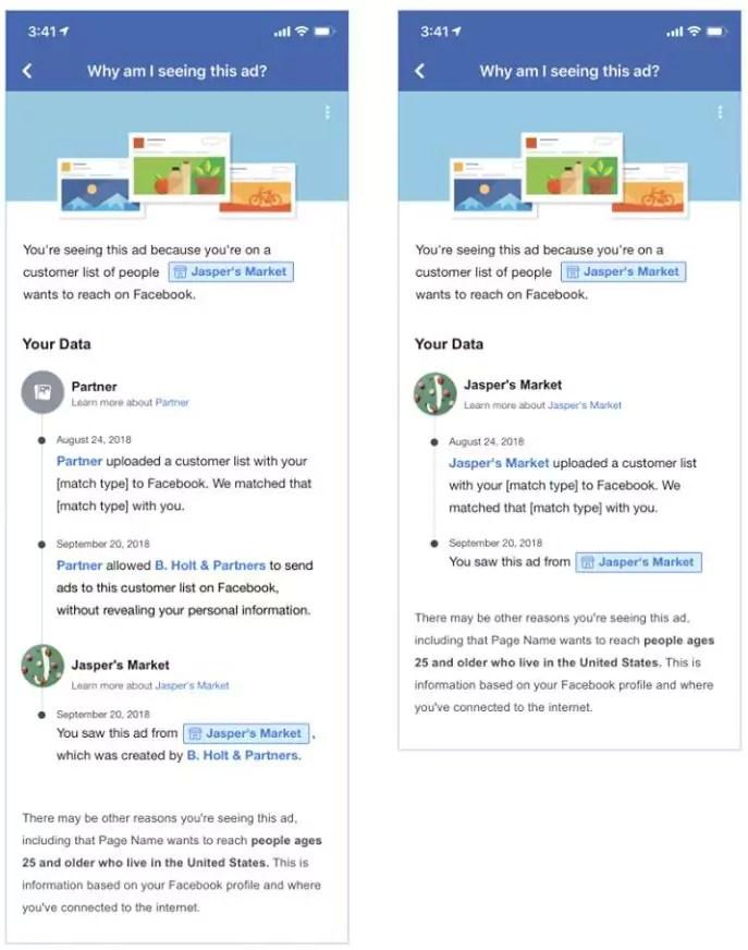 Facebook Ads - Mehr transparenz