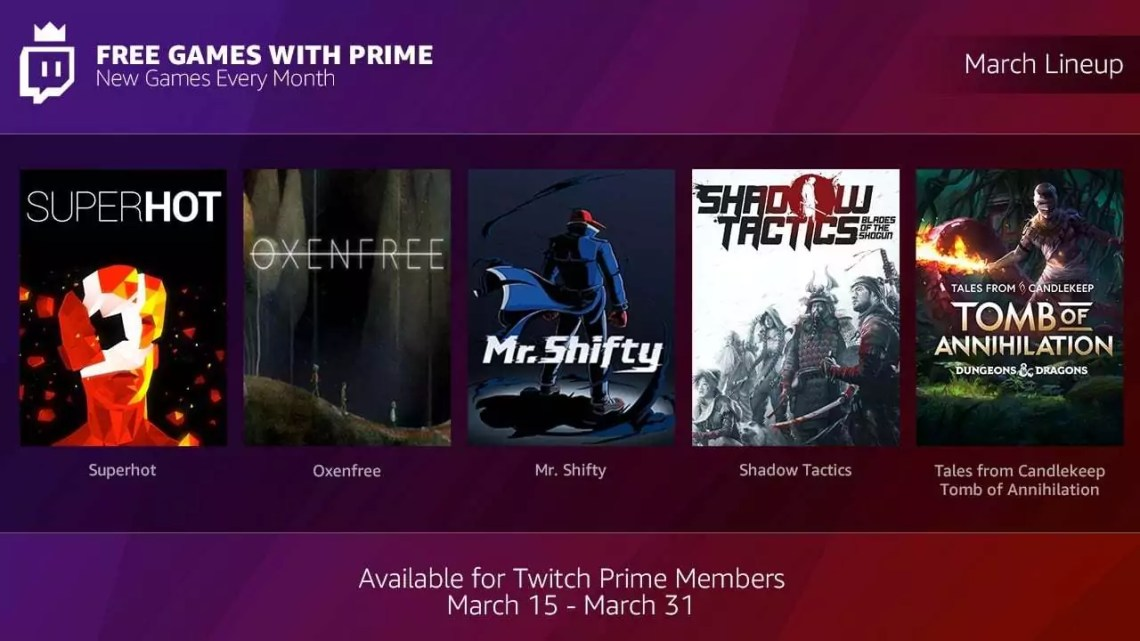 """Twitch Prime: Ab sofort jeden Monat """"Free Games with Prime""""-Bundle"""