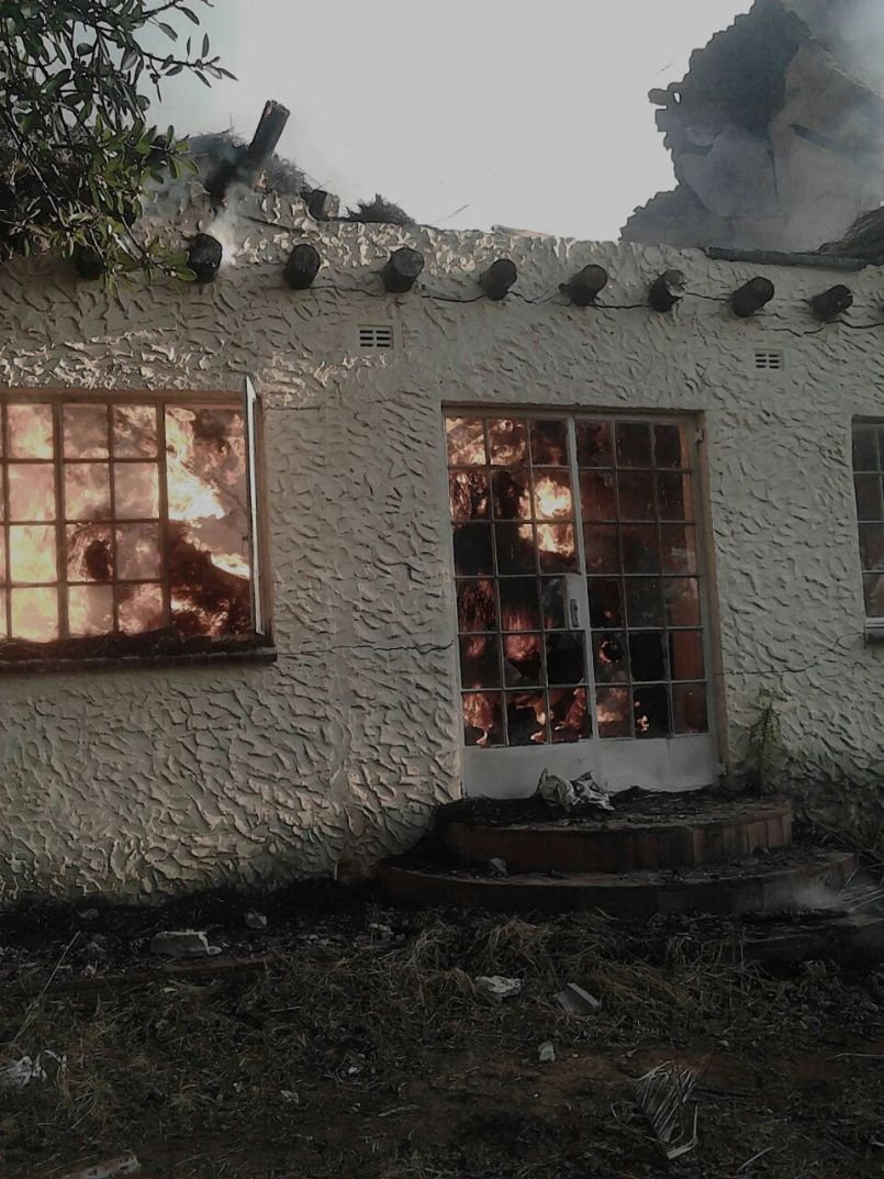 A police report was made and investigations into the cause of the fire at Gono's house are underway