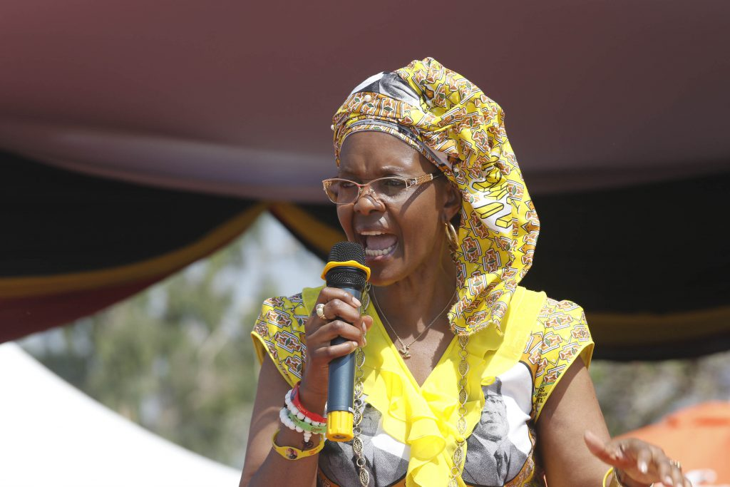 Image result for Grace mugabe in rally