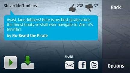Own Voice Nokia Ovi Maps, Il Navigatore parla con la nostra voce