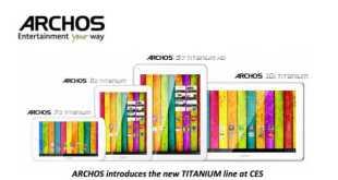 CES 2013: tutta la gamma Tablet by Archos ( video )