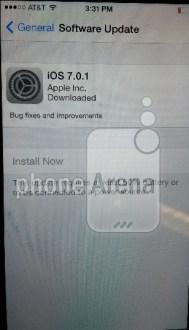 iOS 7.0.1   Apple ha iniziato il rilascio dell'aggiornamento!