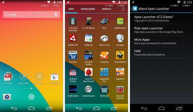 Apex Launcher 2.2 porta l'interfaccia KitKat per qualsiasi Android e include la trasparenza